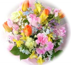 亡き友に花束を贈る